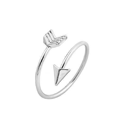 Isola & Co Arrow Ring, Graduation Ring, Inspirational Ring, Travel Ring Toe Ring (Silver-and-Stainless-Steel)
