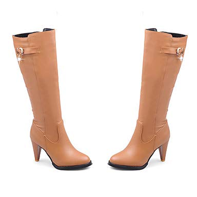 NVXUEZIX Damen Schuhe Kunstleder Kunstleder Kunstleder Winter Herbst Modische Stiefel Stiefel Null Konischer Absatz Runde Zehe Kniehohe Stiefel Strass Für Normal Party, us11.5   eu43   uk9.5   cn45 4e122a