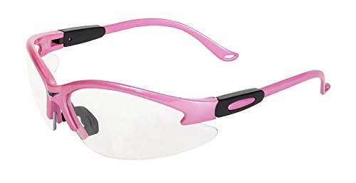 Global Vision Eyewear Cougar Safety Glasses, Clear Lens, Pink Frame -