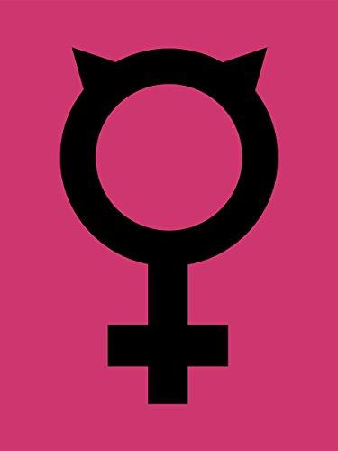 Borsa Tote Feminist Cat 38 x 42 cm in rosa