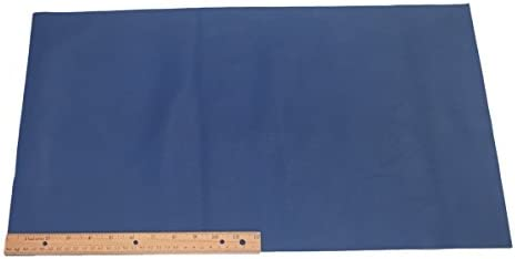 144 sq inches of embossed Cowhide Leather in Blue diamond Good for Crafting Smallmed pieces hard texture