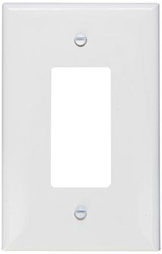 Morris 81821 Lexan Wall Plate, Oversize Decorative GFCI, 1 Gang, White