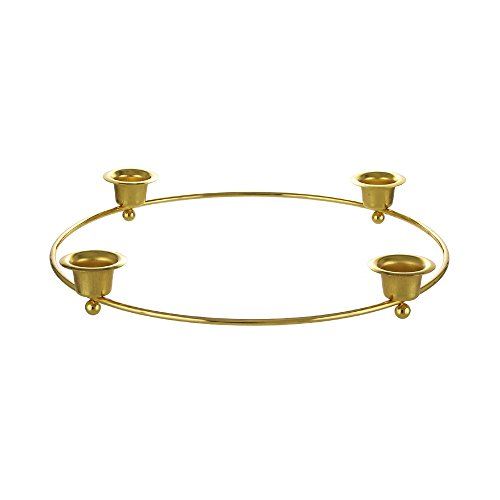 Mega Candles - Wreath Advent Ring Taper Metal Candle Holder - Gold