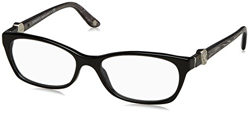 Versace Women's VE3164 Eyeglasses Shiny Black 53mm by Versace