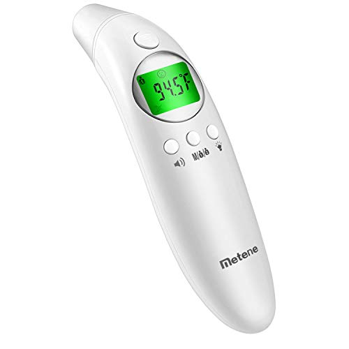 Metene Digital Forehead and Ear Thermometer,Suitable For Baby, Toddler and Adults with Instant Reading and Improved Accuracy (Best Ear Thermometer For Toddlers)