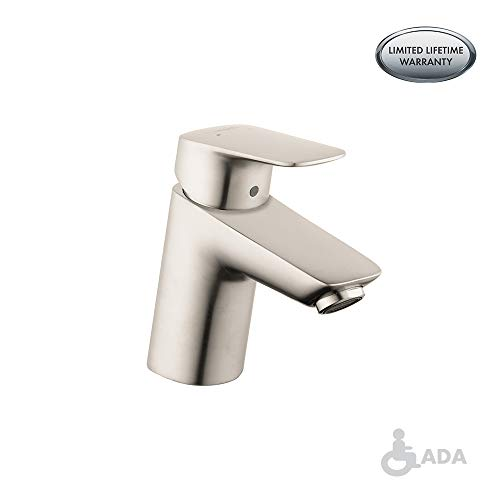 (hansgrohe Logis  Modern 1-Handle  5-inch Tall Bathroom Sink Faucet in Brushed Nickel, 71070821)