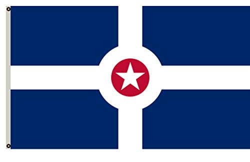 Indianapolis Flag - Fyon Indiana banner City of Indianapolis Flag 2x3ft