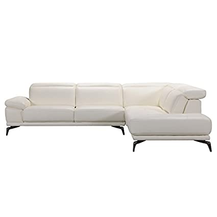 Amazon.com: Divani Casa Tundra Modern White Leather ...