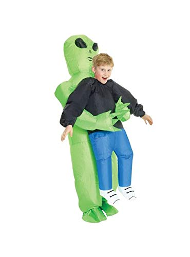 Funniest Couple Costume (Morph KMCPIAL Boys Pick Me up Inflatable Costume, One Size, Alien)