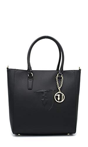 Bag Trussardi Black Jeans Shopping Ecoleither Ischia wPk8n0O