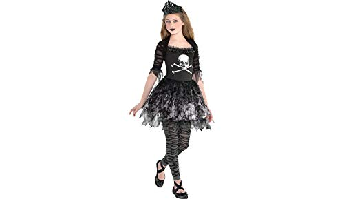 Zombie Ballerina Dress Halloween Costume for Girls, Extra Large, with Included Accessories, by Amscan ()