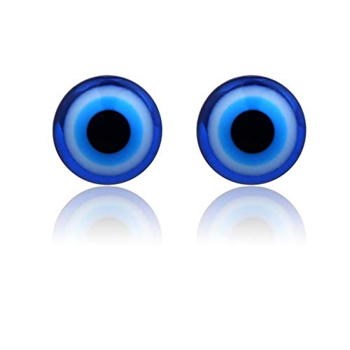Lottoy 1 Pair Unisex Weight Loss Blue Eyes Shape Ear Stud, Healthy Magnetic Therapy Earrings 10mm, No Piercing by Lottoy (Image #4)