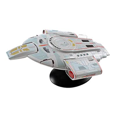 Eaglemoss Star Trek The Official Starships Collection #23: Lg USS Defiant NX-74205 Ship Replica, Multicolor APR182194: Toys & Games