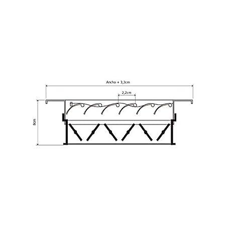 Rejilla de impulsi/ón techo lama curva con regulaci/ón blanca Marco de montaje