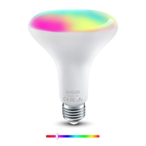 [2020 Upgrade] Smart Bulb,2.4G WiFi E26 BR30 13W(100w Equivalent) RGBCW Color Changing Light Bulb Compatible with Alexa…