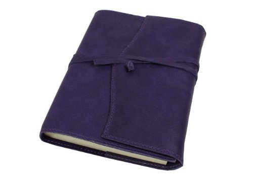 Milano Refillable Handmade Italian Aubergine/Purple Leather Address Book - 12 x 17 (Milano Italian)