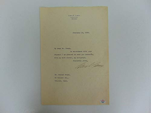 "RARE!""Sing Sing Warden"" Lewis E. Lawes Hand Signed Letter Dated 1935 PAAS COA from Unknown"