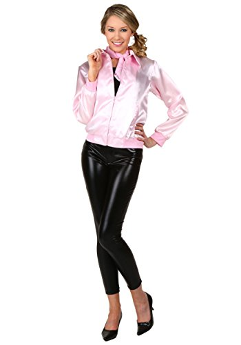 Ladies Costume Pink Womens Jacket Grease (Grease Adult Pink Ladies Jacket Officially Licensed -)