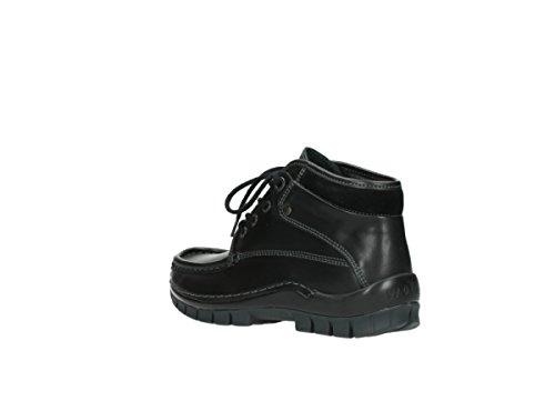 schwarz Sneaker Leder donna Nero Wolky 200 dIq7xwIH