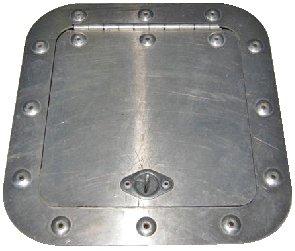 Aluminum Access Panel Door Sheet metal Modified Late Model Dirt 6 x 6 6