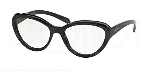 Prada Eyeglasses PR25RV 1AB1O1 Black Matte Inside 52 18 140 by Prada