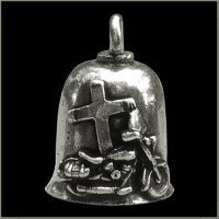 JESUS RIDES WITH ME Gremlin Bell guardian biker harley motorcycle good luck -