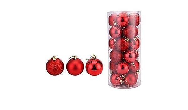 Amazon.com: Jim Hesa 24PCS Christmas Ball Ornaments Bulk Baubles Set Red  Shatterproof Hanging December (red): Home & Kitchen - Amazon.com: Jim Hesa 24PCS Christmas Ball Ornaments Bulk Baubles Set
