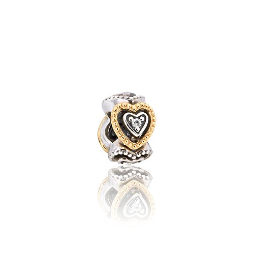 Pandora Celebration of Love Spacer Silver & Gold Charm 791975CZ