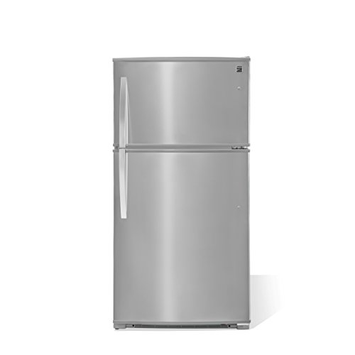 Kenmore 61215 20.8 cu.ft. Top-Freezer Refrigerator with LED Lighting in Stainless Steel with Active Finish, includes delivery and hookup