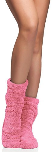 L&L Damen Warme Winter Socken Colorful (Grapefruit, 36/38)