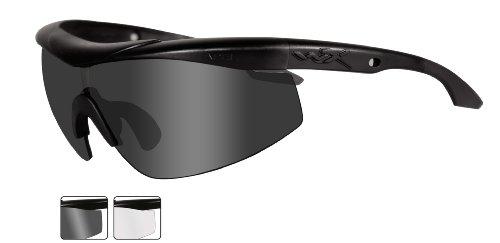Wiley X CHTLN1 Wx Talon Advanced Changeable Sunglasses, Smoke