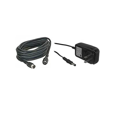 Bescor RE20 20' Extension Cord and PS-260 A.C. Power Supply for MP-101 Pan Head Remote Control