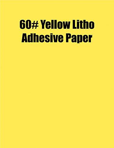 Spinnaker Coating Yellow Litho 60# Adhesive Paper, Strip-Tac Plus, Permanent, 17 x 22, 500 Sheets per Carton ()