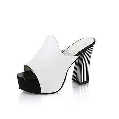 LvYuan Mujer-Tacón Robusto-Confort-Sandalias-Vestido Informal-PU-Negro Rojo Blanco Black