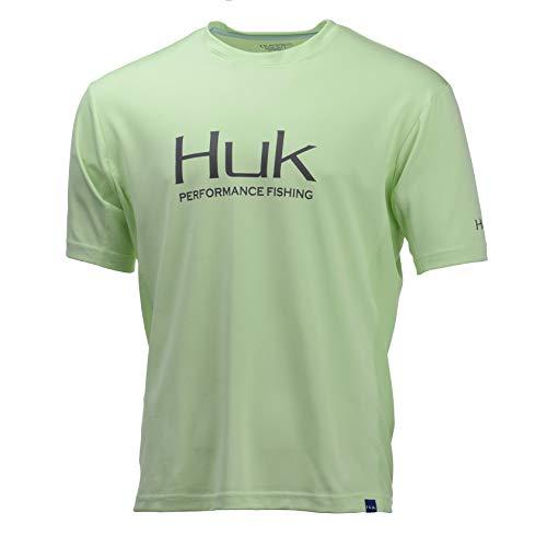 Youth T-shirt Shot (Huk Men's Icon X Short Sleeve Shirt, Key Lime, Medium)