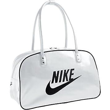 NIKE Heritage Si Shoulder Club BA4269-104 Shoulder Bag 23 x 45 x 30 cm 31  Litre White Black  Amazon.co.uk  Luggage 2825aa808f8