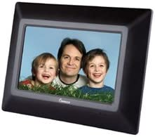 Impecca DFM-720 7 3-in-1 Digital Photo Frame with 16 9 Aspect Ratio, Built in Speakers, Black