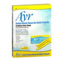 Ayr Saline Nasal Rinse Kit Refill Packets - 100 ct, Pack of 3 by AYR