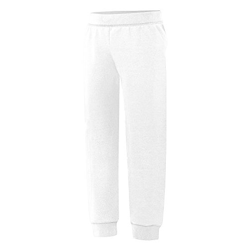 Hanes Big Girls' ComfortSoft EcoSmart Jogger Pants, White, Medium (Sweatpants White Hanes)