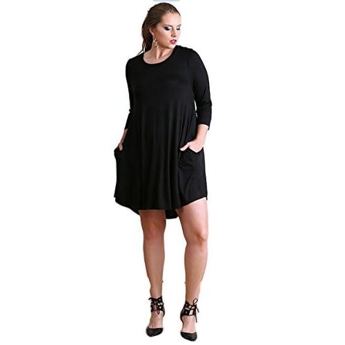 389aa4ad956 Umgee Boho Chic Scalloped Hem T-Shirt Dress Plus Size outlet ...
