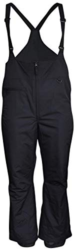 Snow Country Outerwear Women's Plus Size Snow Ski Bibs Overalls Pants (2X (20/22), Black)