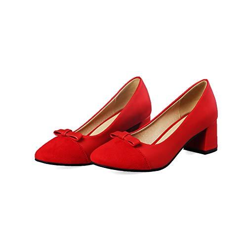 Rouge AdeeSu Femme EU SDC05639 Sandales 5 Red Compensées 36 rqBIzwBx