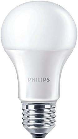 Philips bombilla LED estándar mate casquillo gordo E27, 10 W equivalentes a 75 W en incandescencia, 1055 lúmenes, luz blanca fría