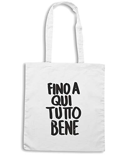 QUI Shirt BENE Borsa TDM00082 Shopper Bianca FINO A Speed TUTTO BRTqa