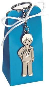Llavero niño Comunión con caja peladillas - Pack 10 unidades.: Amazon.es: Hogar