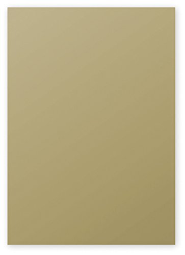Clairefontaine Pollen Coloured Paper, A4, 120 g - Gold, Pack of 50 Sheets
