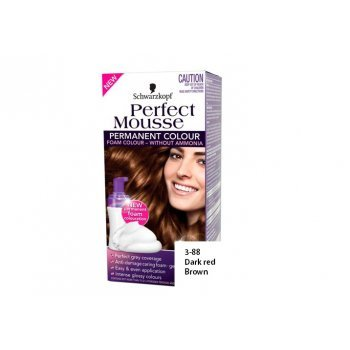 schwarzkopf perfect mousse permanent colour without ammonia 3 88 dark red br by - Mousse Colorante Schwarzkopf