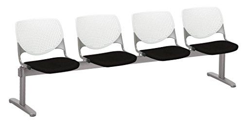 KOOL 4 Seat Beam Seating, Tuxedo (4 Tuxedo Chairs)