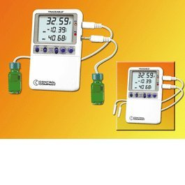 Traceable(R) High-Accuracy Refrigerator Thermometer with 2 chemical-resistant, waterproof sensor Probes - 4240 - EACH