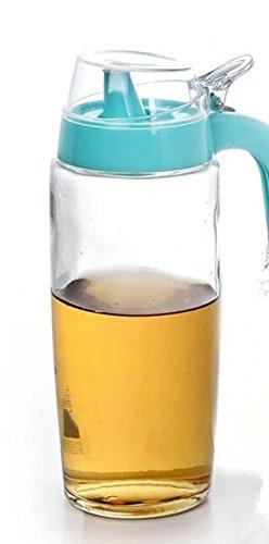 All For You cristal botella de aceite, vinagre, salsa de soja, miel dispensador con resistente plástico cap-bpa Free- 20,3 oz/600 ml: Amazon.es: Hogar